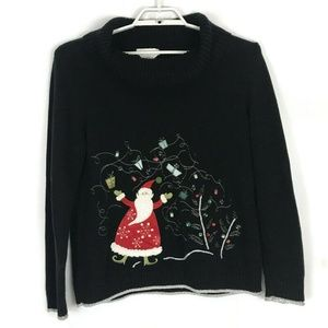 Ugly Christmas Womens Sweater XL Black Long Sleeve